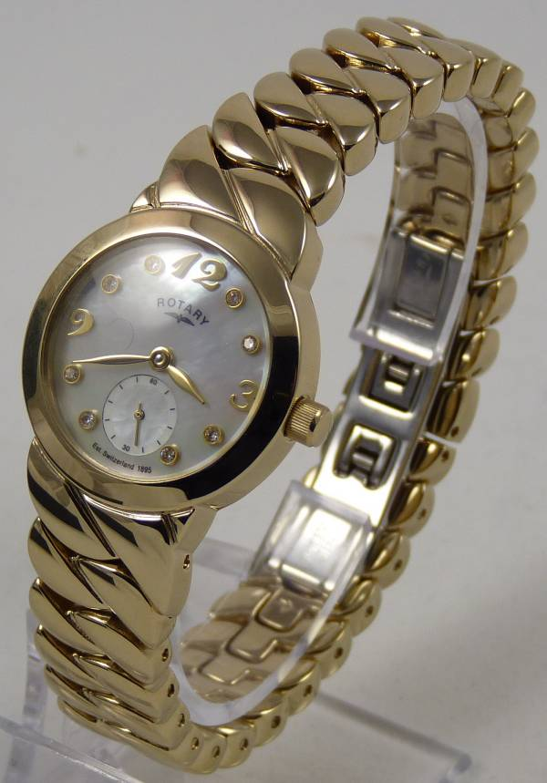 Rotary Ladies LB02438/31 Gold Plated Watch