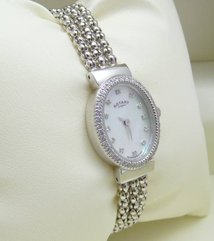 Ladies Silver Rope Watch