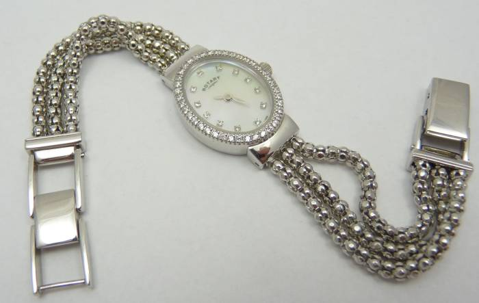 Rotary Silver Rope Watch