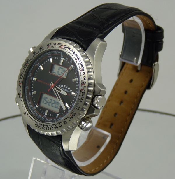 Rotary World Timer Watch