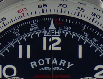 Rotary Mens Blue Face Chronospeed Watch