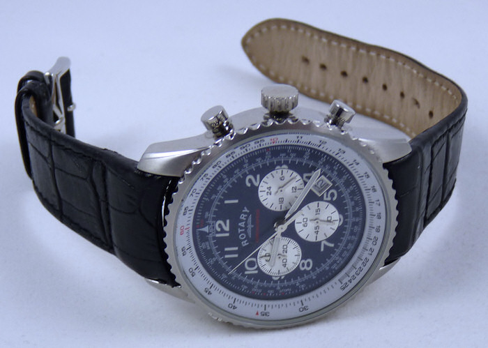 100% Genuine Rotary Quality Black Leather Strap.